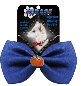 Pumpkin Widget Pet Bowtie Blue